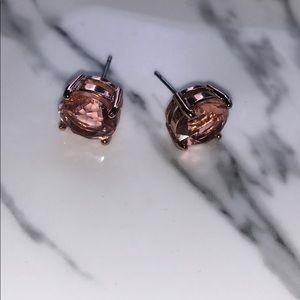 Rose gold stone earrings